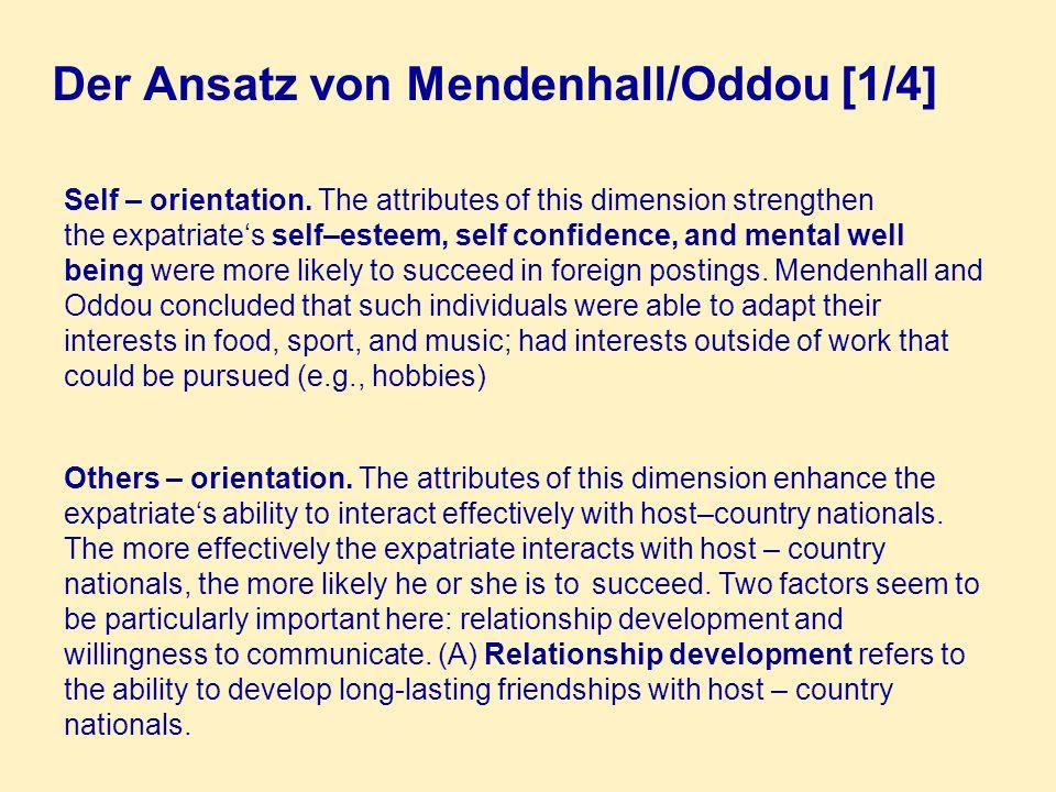 Der Ansatz von Mendenhall/Oddou [1/4]